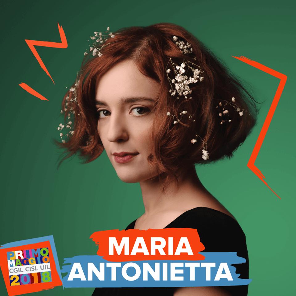 Maria Antonietta al concerto del 1 Maggio